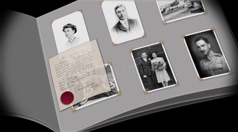 Een album van de ogenblik in time foto vector illustratie