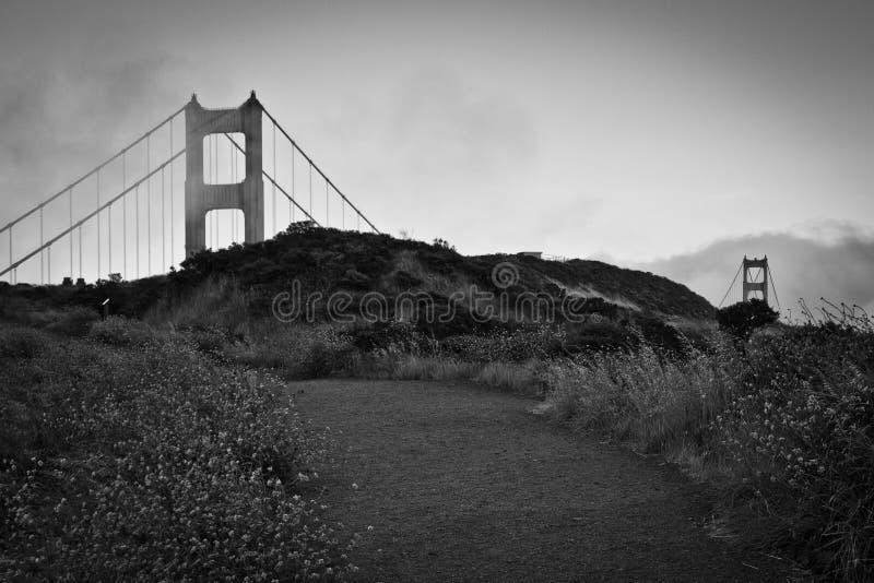 Golden gate bridge, een alternatieve mening royalty-vrije stock foto's
