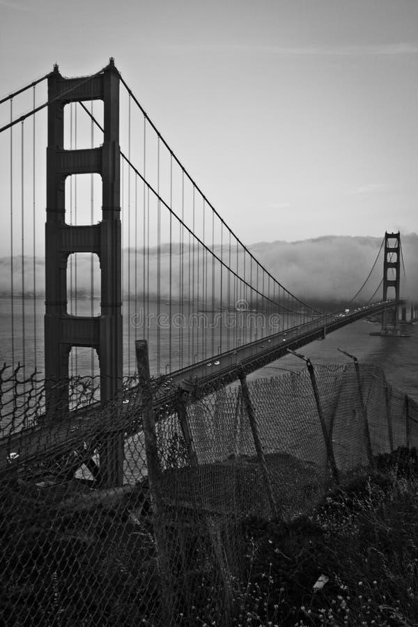 Golden gate bridge, een alternatieve mening royalty-vrije stock afbeelding