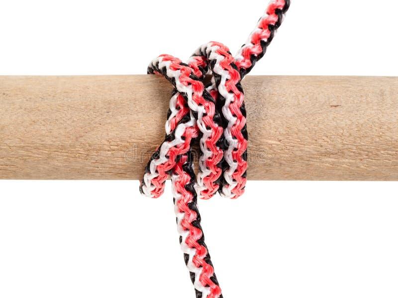 Een andere kant van dubbele constrictor knoop op kabel royalty-vrije stock fotografie