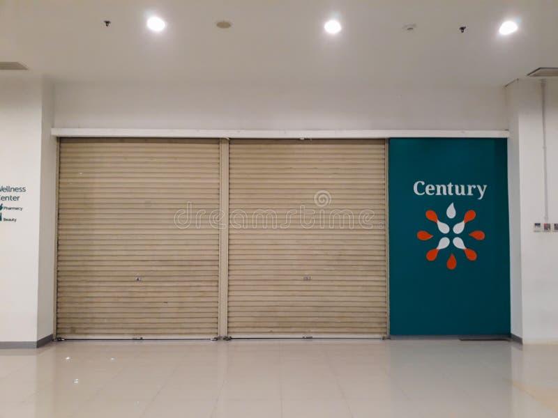 Een apotheek bij CGV-het handelscentrum van Wandelgalerijbekasi, op een nationale feestdag royalty-vrije stock foto's