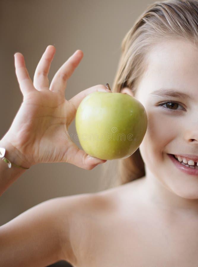 Een appel een dag? stock afbeelding