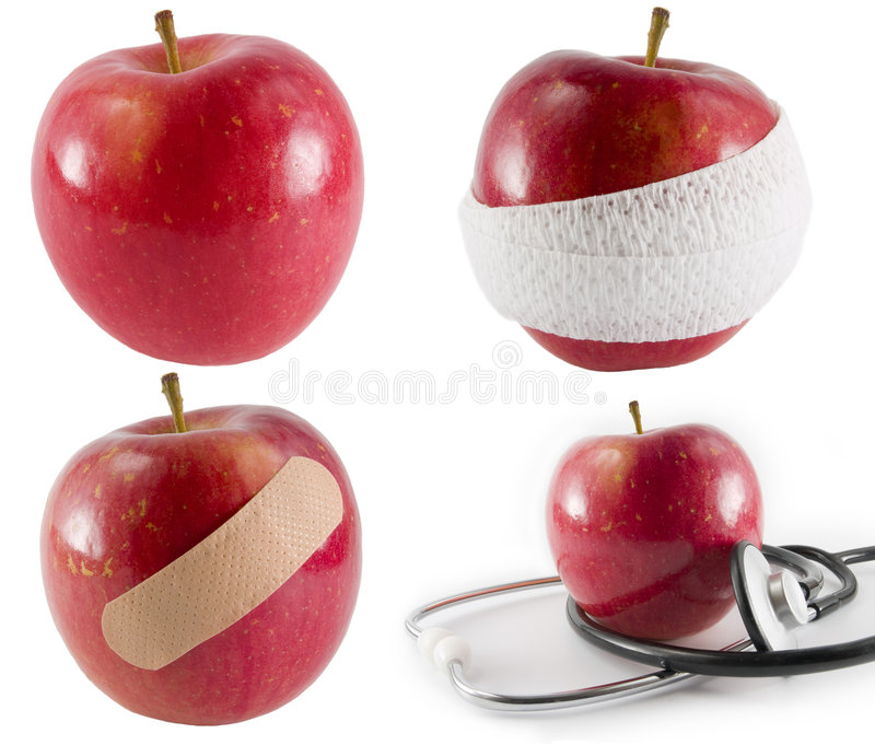 Een appel een dag? royalty-vrije stock afbeeldingen