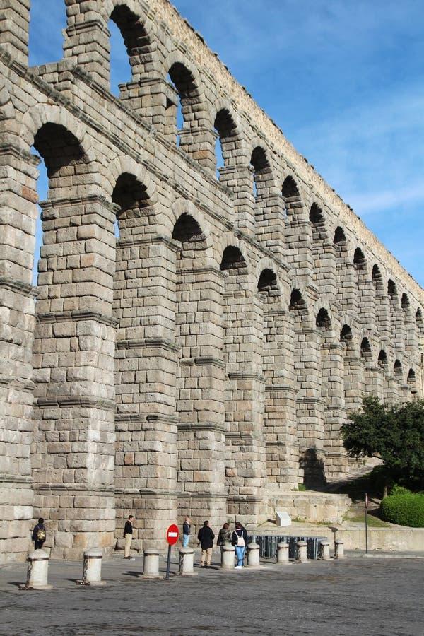 Een aquaduct in Segovia, Spanje royalty-vrije stock afbeelding
