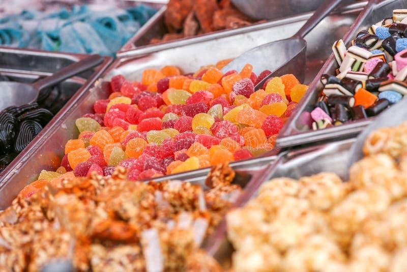 Een Assortiment van verschillend suikergoed royalty-vrije stock foto's