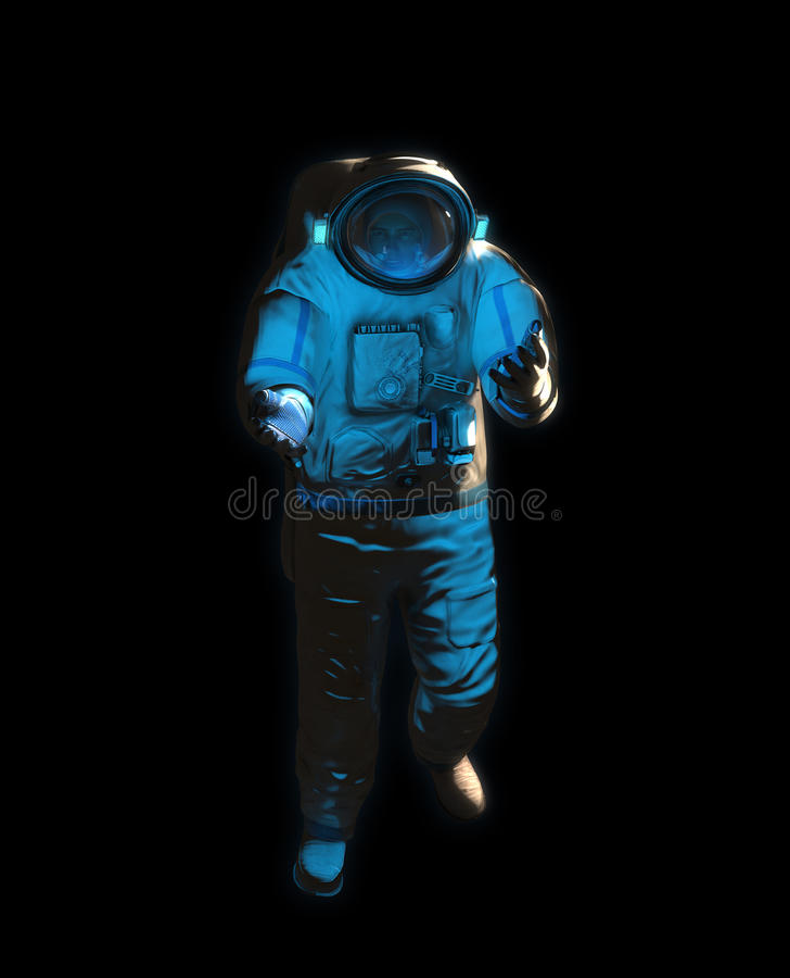 Een atronaut in ruimte stock afbeeldingen