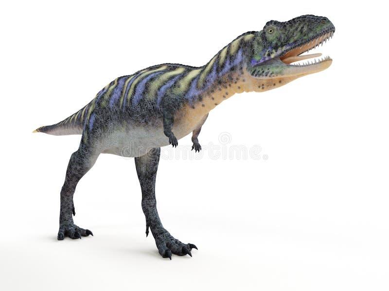 Een aucasaurus vector illustratie
