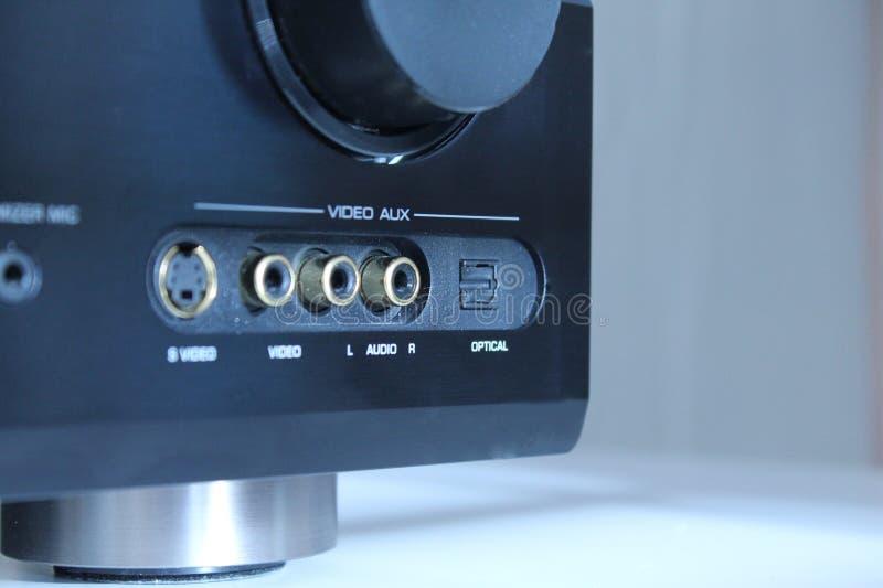Audio versterkerinput royalty-vrije stock afbeelding