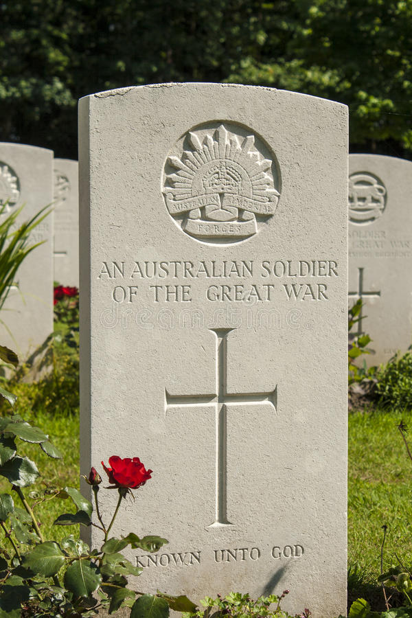 Een Australische militair van de grote oorlog WW1 stock foto