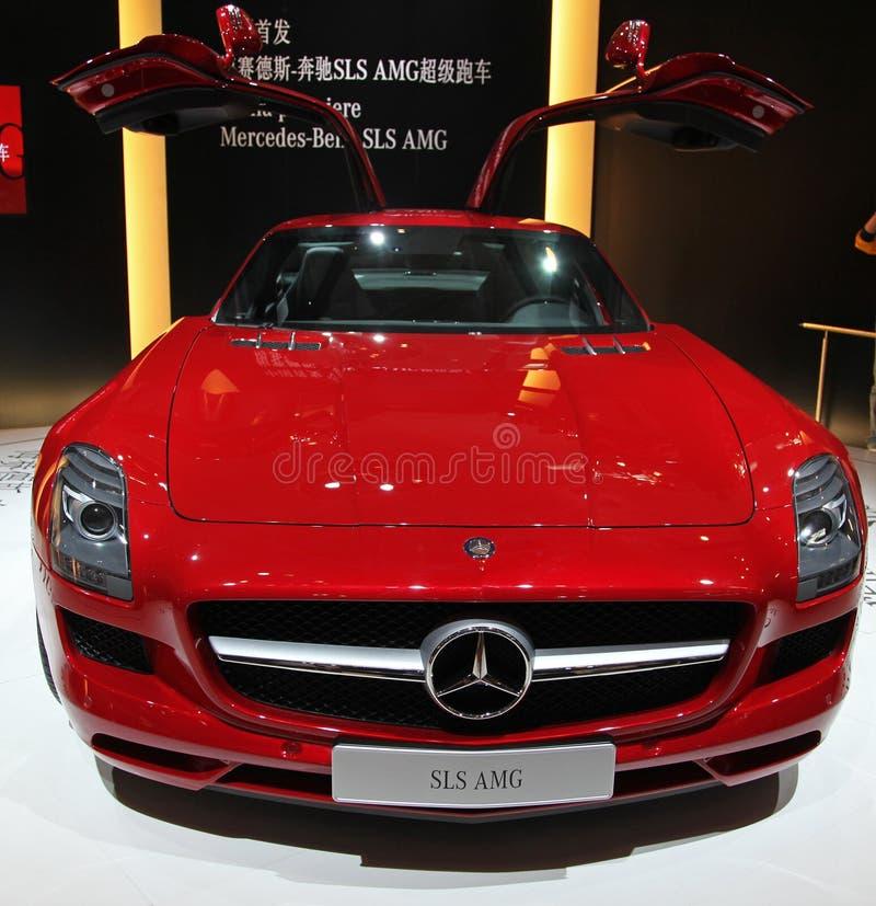 Een auto AMG van Mercedes-Benz SLS royalty-vrije stock afbeeldingen