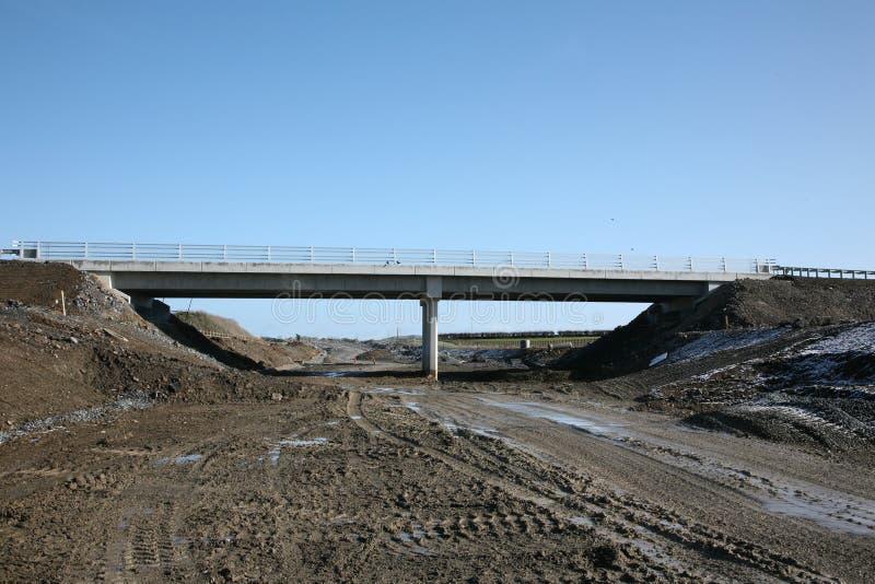 Een autosnelweg overbridge royalty-vrije stock afbeelding