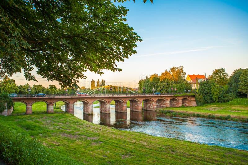 Een Avond in Duitsland Rastatt stock afbeelding