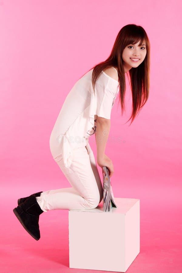 Een Aziatisch Meisje Stock Foto's