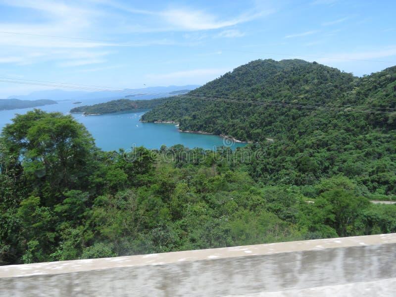 Een baai in Angra-Dos Reis - Brazilië stock foto