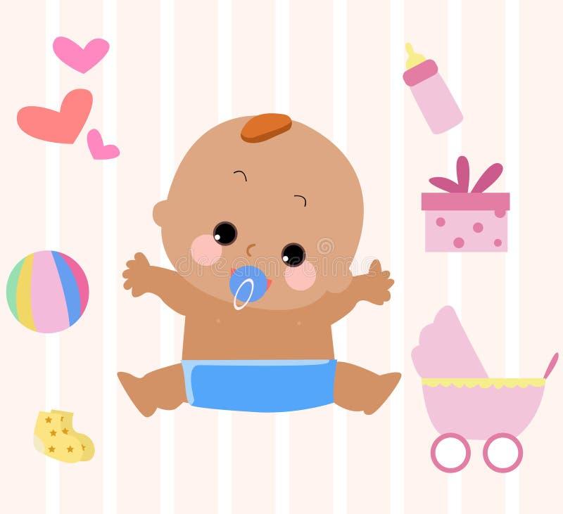 Een baby vector illustratie