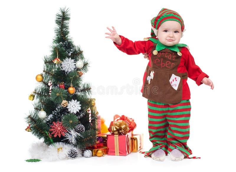 Een baby kleedde zich als a royalty-vrije stock foto