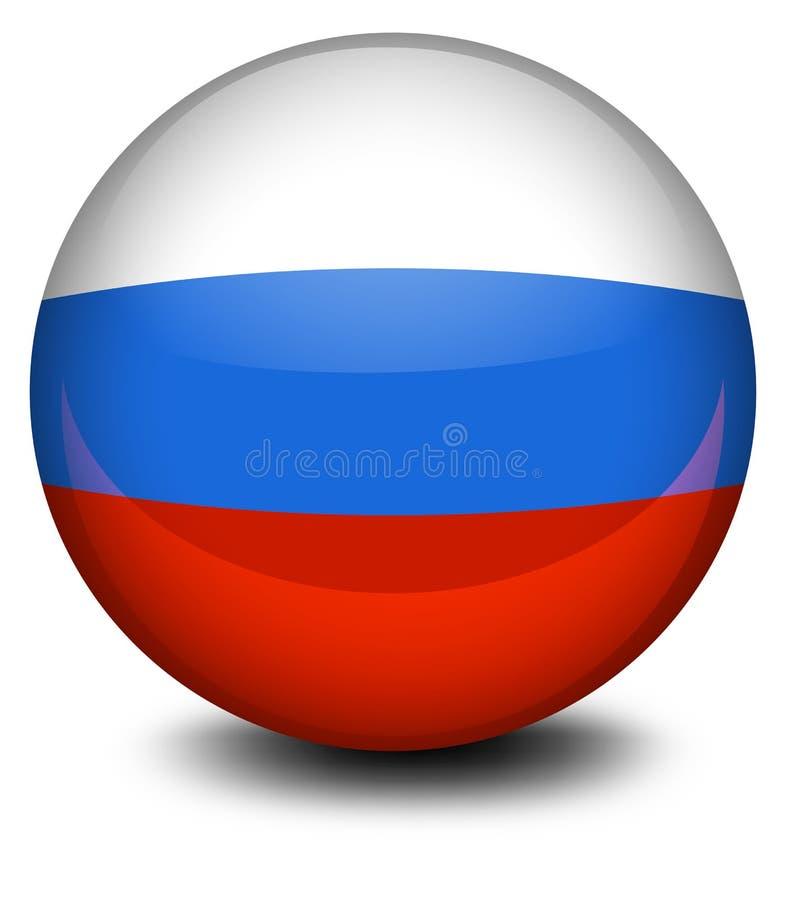 Een bal met de Russische vlag royalty-vrije illustratie