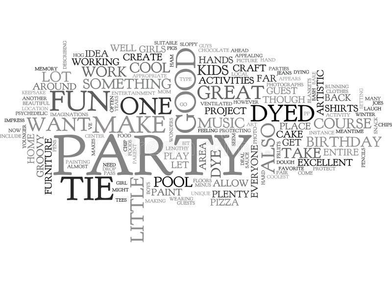 Een Band Geverfte Wolk van Verjaardagsbashword stock illustratie