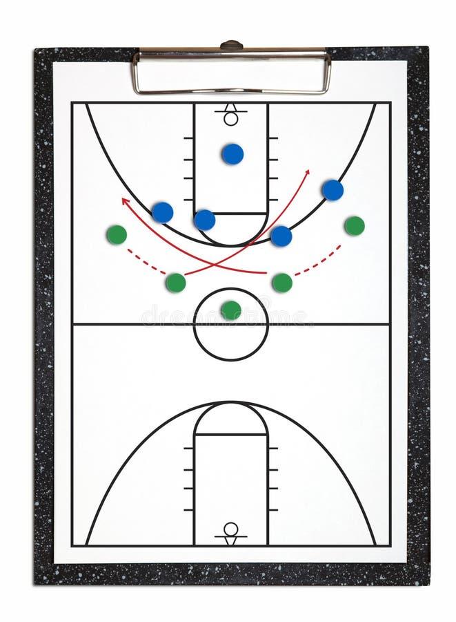 Een basketbal het aanvallen strategie stock foto