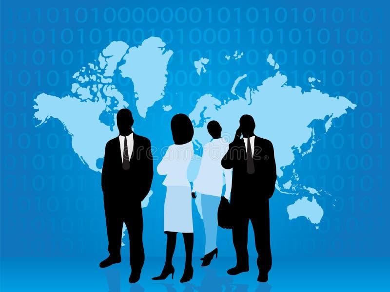 Download Een Bedrijfs Mensendeel Van Technologiewereld Vector Illustratie - Afbeelding: 5053466