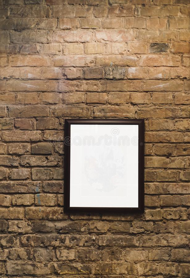 Een Beeld op achtergrond van de grunge de industriële rode bakstenen muur royalty-vrije stock afbeelding