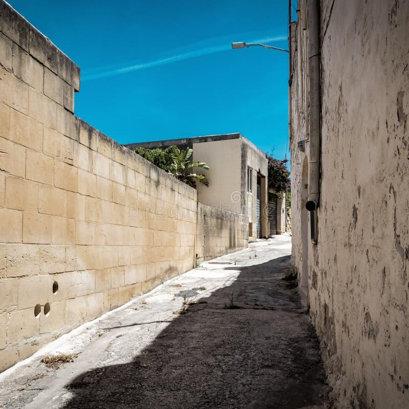 Een beeld van de mooie straat van Malta royalty-vrije stock afbeelding