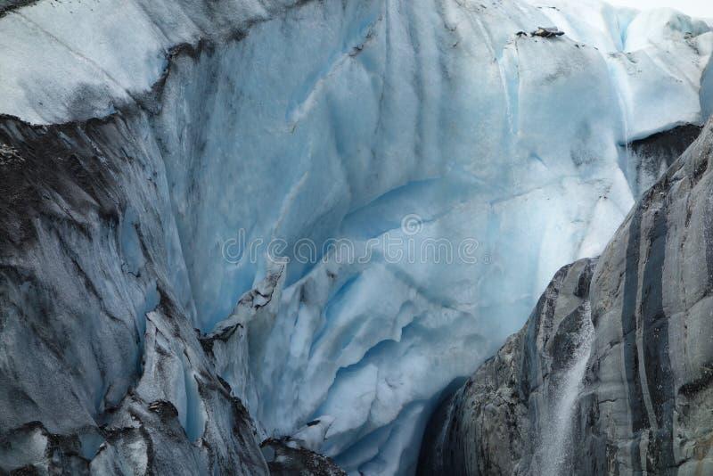 Een beeld van een achteruitgaande gletsjer royalty-vrije stock fotografie