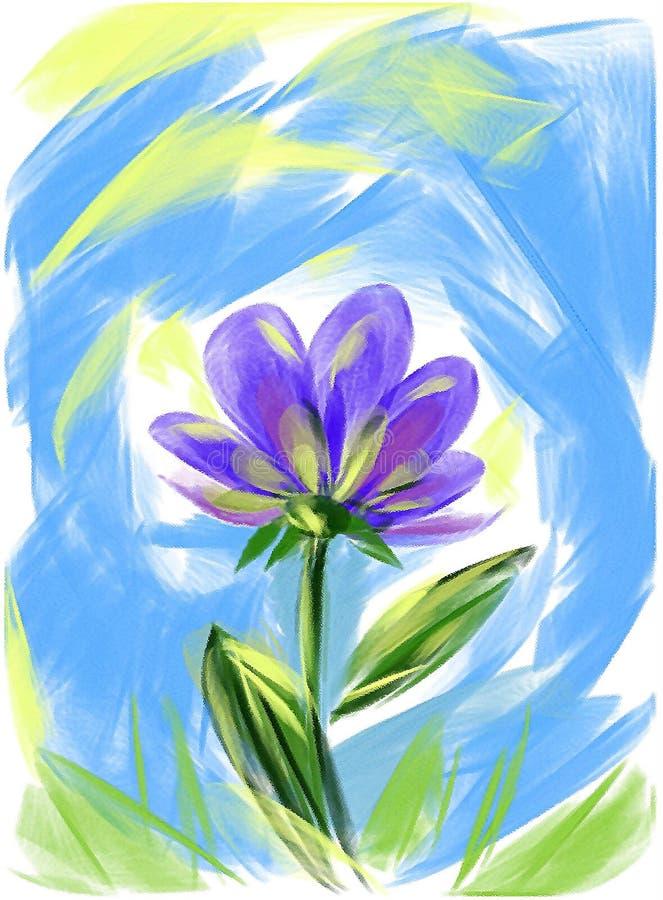Een beeld van een blauwe achtergrond van de bloemindigo stock fotografie