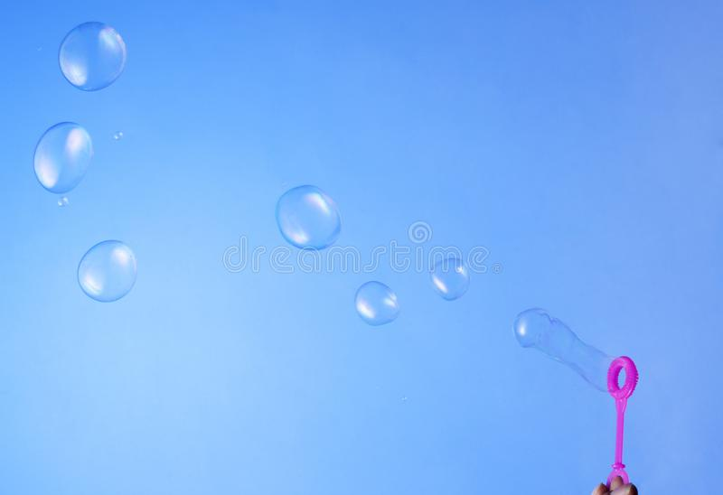 Een beeld van zeepbel stock afbeeldingen