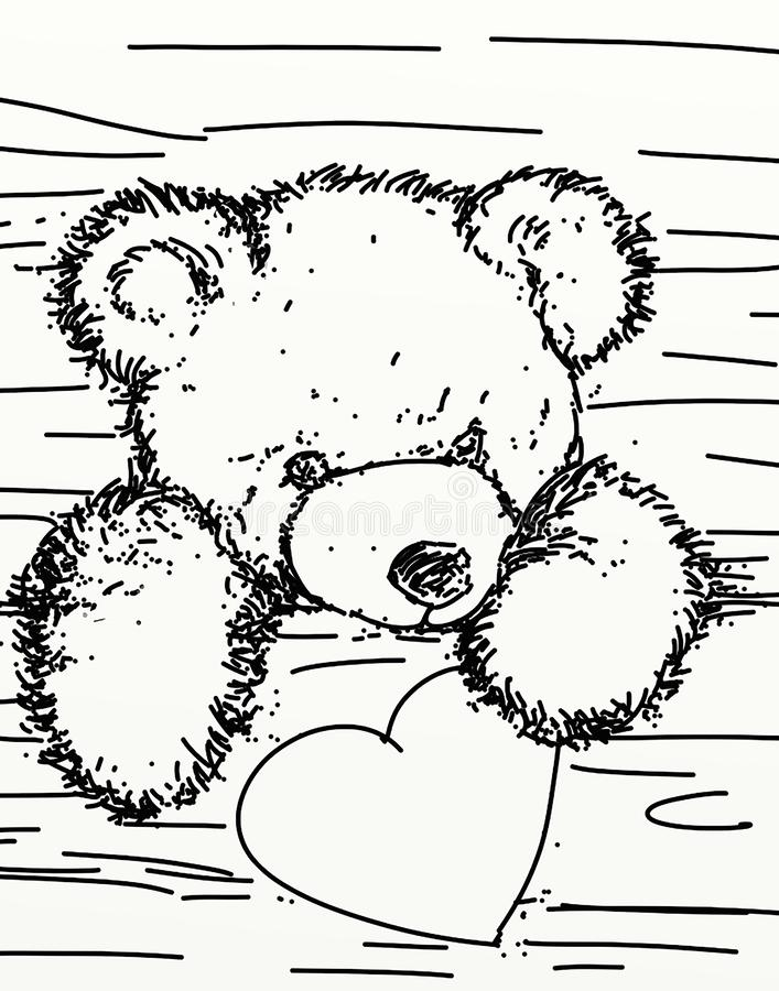 Een beer die uit geeft een doos komen royalty-vrije illustratie