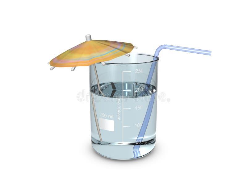 Een beker van cocktail royalty-vrije illustratie