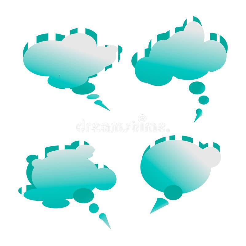 Een bel voor toespraak in de vorm van een wolk met gestreept vector illustratie