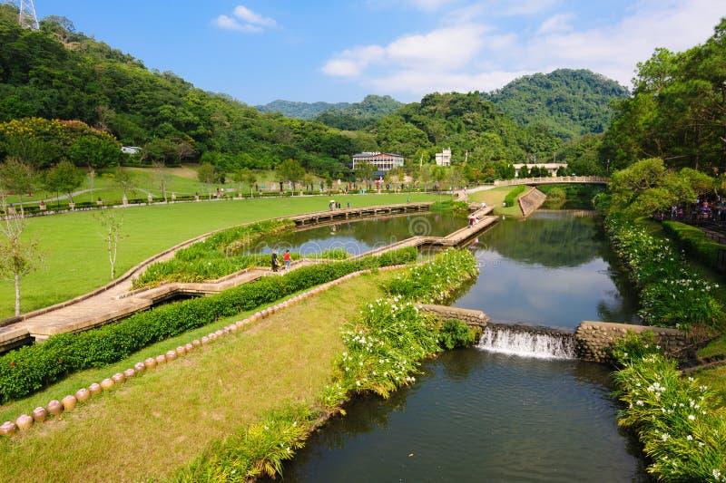 Een beroemd park in Taiwan stock foto
