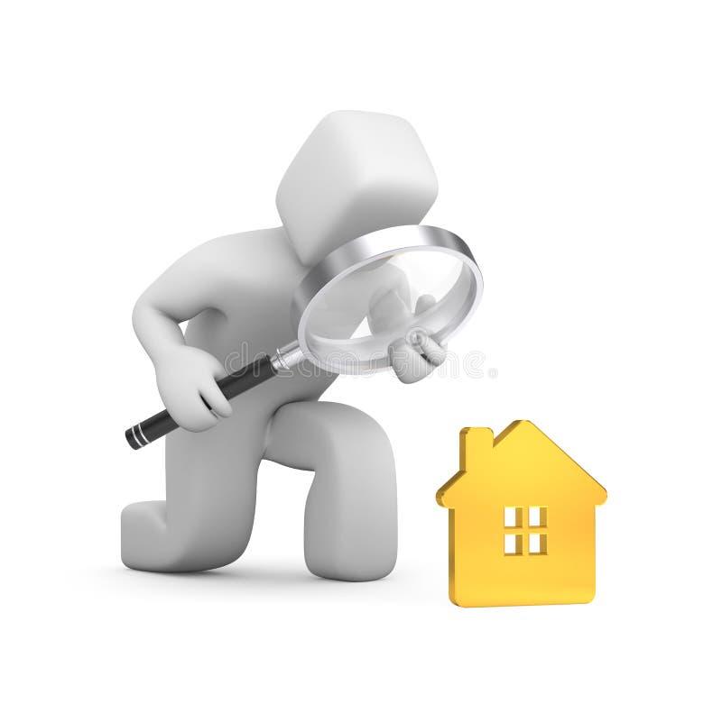 Een beste huis zoek vector illustratie