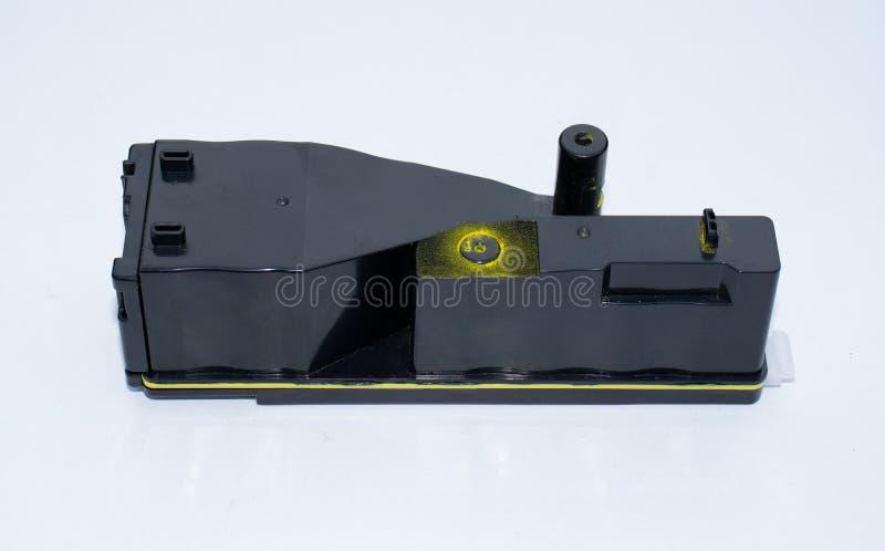 Een bestede laserprinterpatroon stock foto's