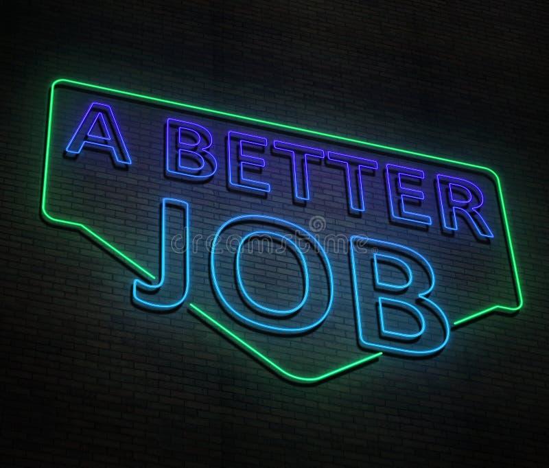 Een betere baan stock illustratie