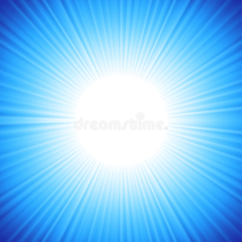 Een blauw kleurenontwerp met een uitbarsting. vector illustratie