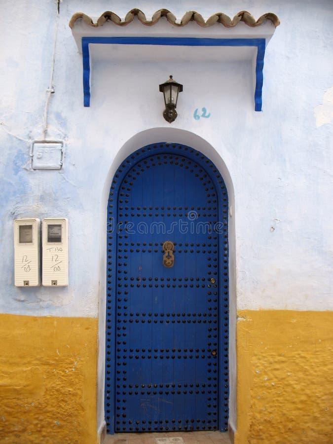 Een blauwe Deur royalty-vrije stock foto