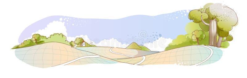 Een blauwe hemel met rookwolkbal betrekt vector illustratie