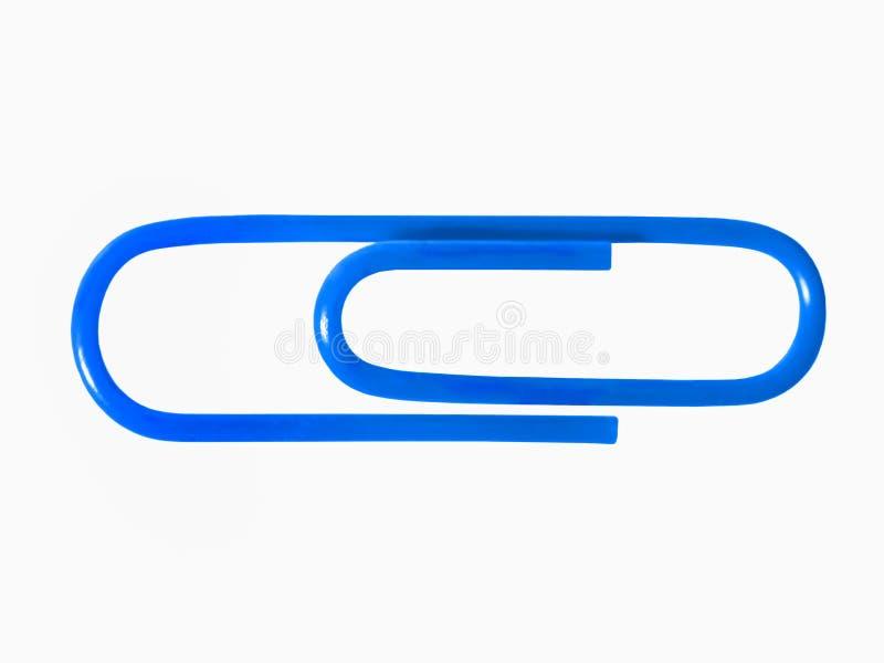 Een blauwe paperclip vector illustratie