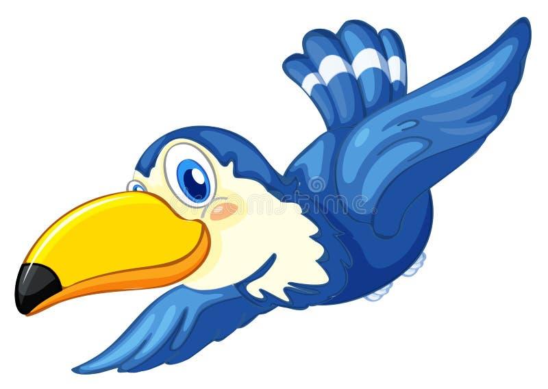 Een blauwe vogel stock illustratie