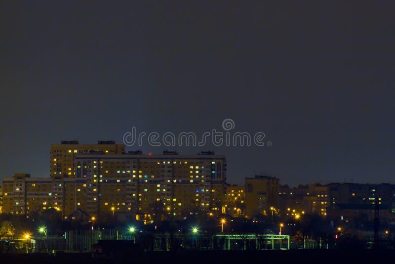 Een blik op de nochnoy stad stock afbeelding