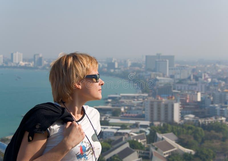 Een blik van het meningspunt in Pattaya royalty-vrije stock fotografie