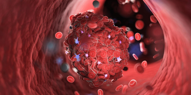 Een bloedstolsel stock illustratie