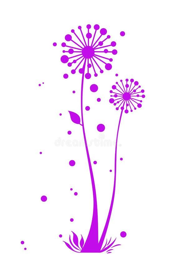 Een bloemenOntwerp royalty-vrije illustratie