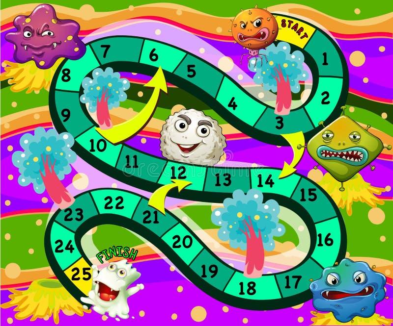 Een boardgame met monsters royalty-vrije illustratie