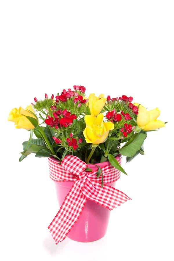 Een boeket met gele rozen royalty-vrije stock foto