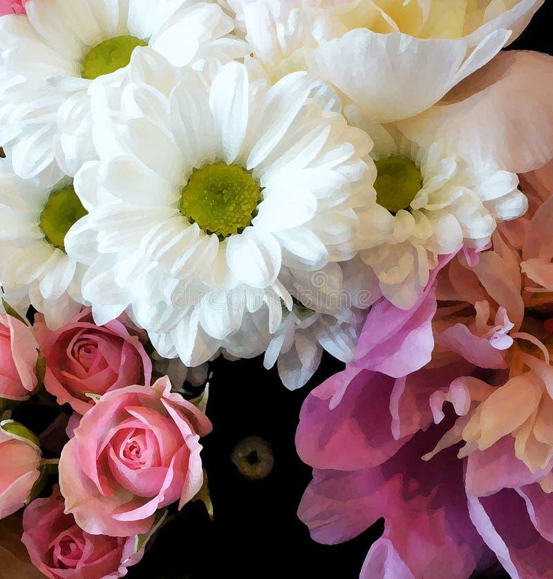 Een boeket van bloemen royalty-vrije stock foto's