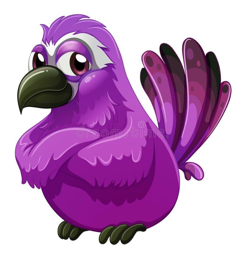 Een boos-kijkt vogel royalty-vrije illustratie