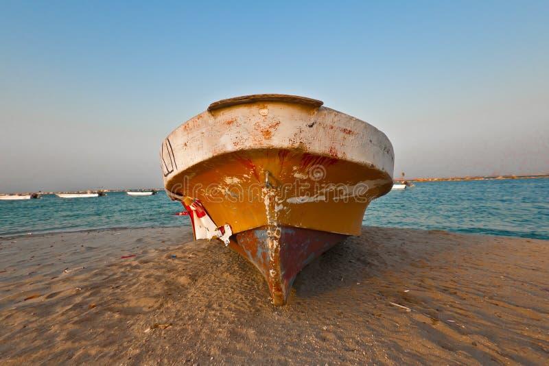Een boot in Dammam SA stock fotografie